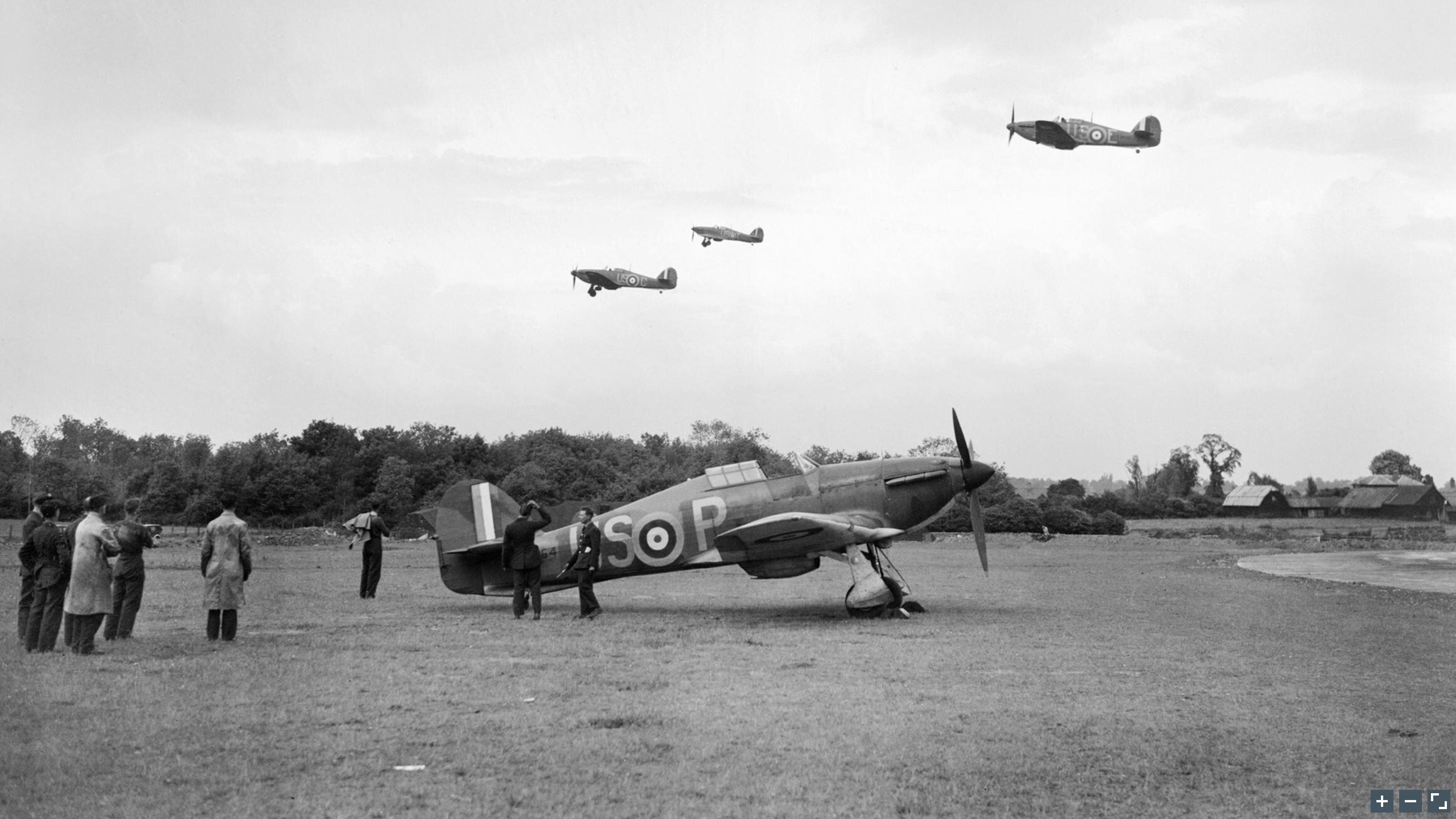 Hurricane I RAF 56Sqn USP BP2764 based at North Weald Essex IWM CH158a