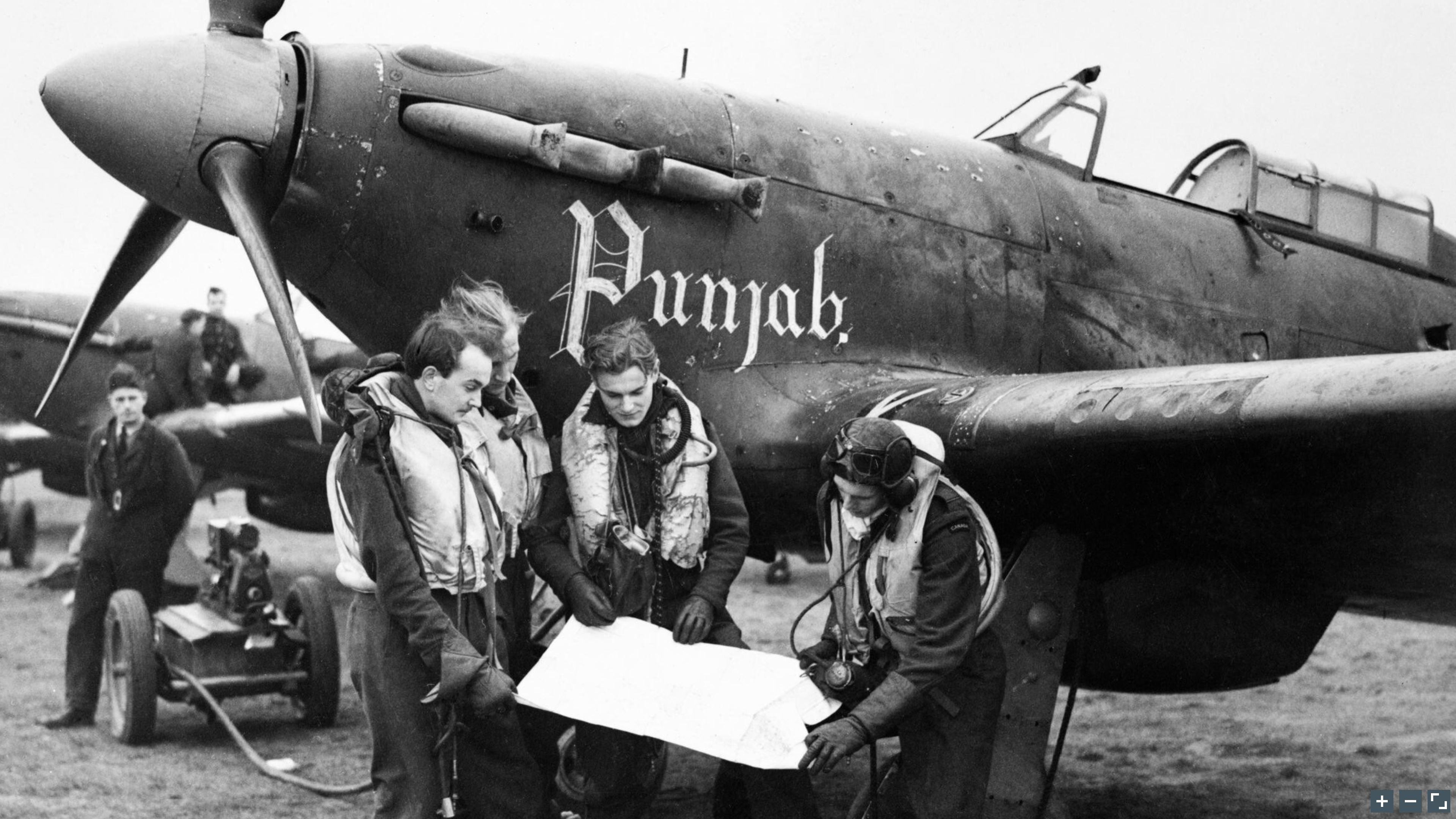 Hurricane I RAF 56Sqn USV Punjab at Duxford 2 Jan 1942 IWM CH4547a