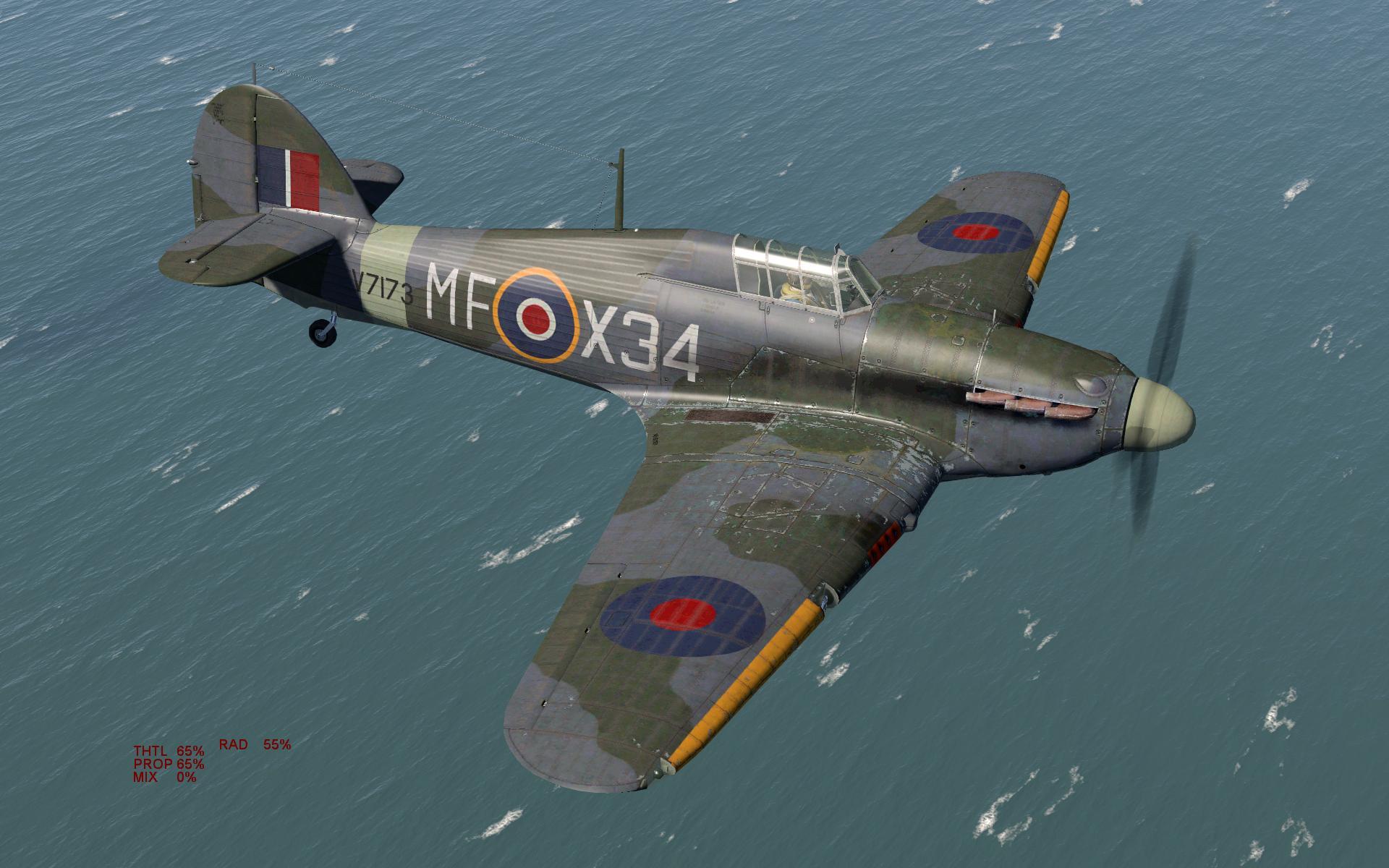 COD KF Hurricane I RAF 59OTU MF X34 V7173 Turnhouse 1943 V0A