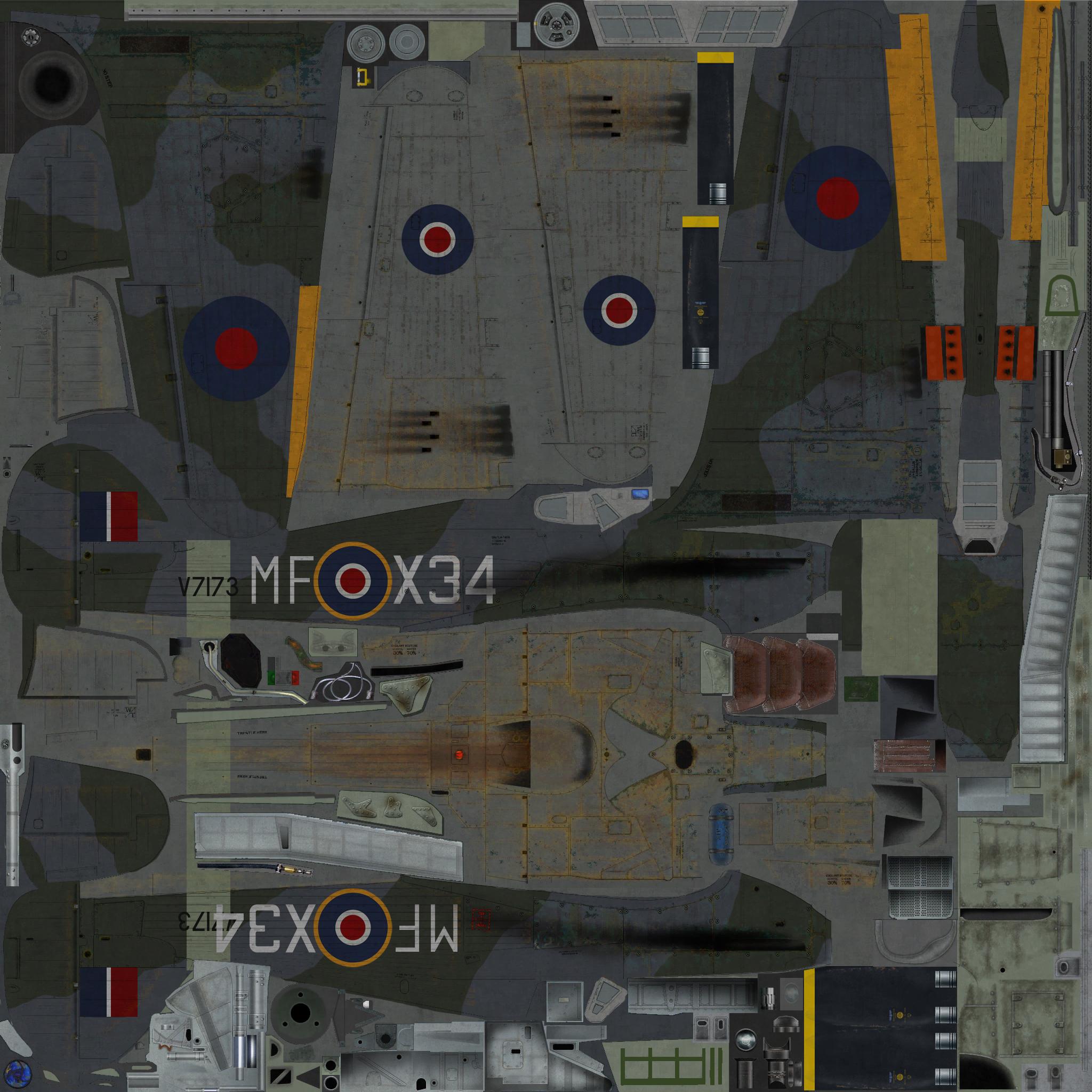 COD KF Hurricane I RAF 59OTU MF X34 V7173 Turnhouse 1943