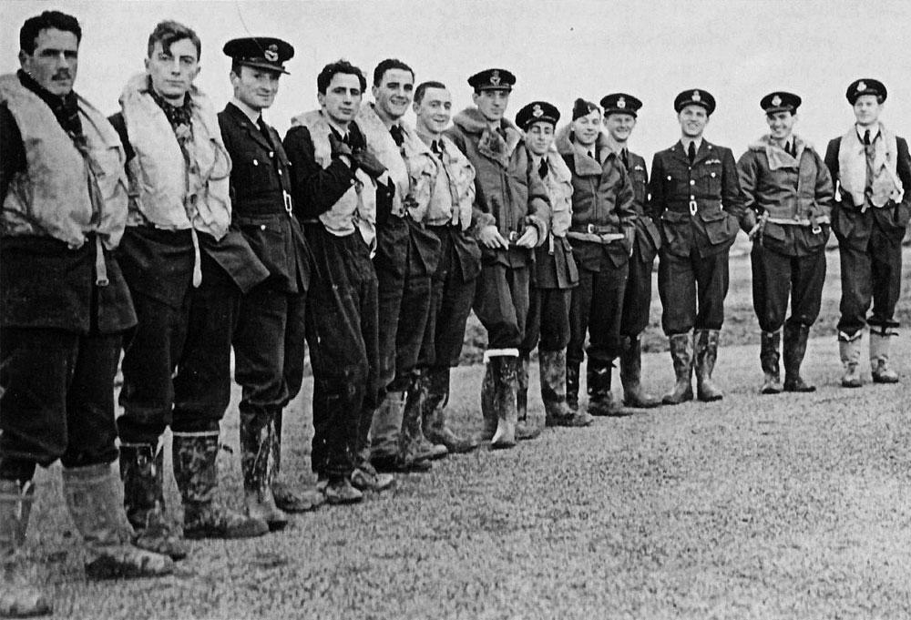 Aircrew RAF 601Sqn Thomas Grier KIA Dec 05 1941 Archibald Philip Hope and William Pancoast Clyde 02