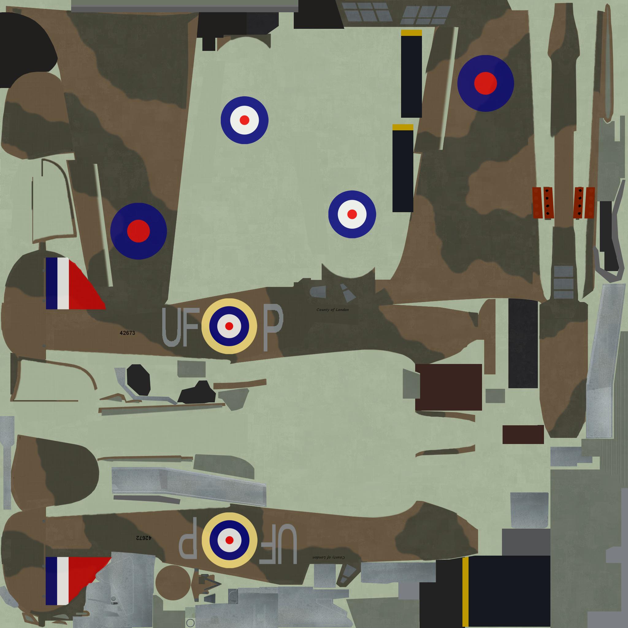 COD PD Hurricane I RAF 601Sqn UFP England 1940