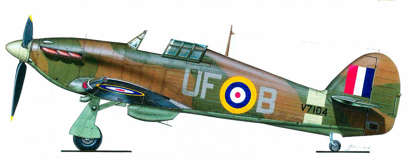Hurricane I RAF 601Sqn UFB V7104 Thaxted Essex England 1941 0A