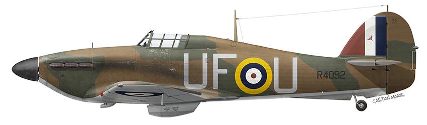 Hurricane MkI RAF 601Sqn UFU Richard Demetriadi R4092 11th Aug 1940 0A