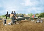 Asisbiz Hurricane I RAF 601Sqn UFK P3886 previously flown by HJ Riddle being repaired at RAF Exeter 1940 02