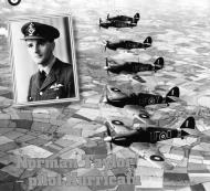 Asisbiz Hurricane IIb RAF 601Sqn UFO Z3356, UFY BD711, UFP Z3244 UFW and UFN in formation 1941 IWM