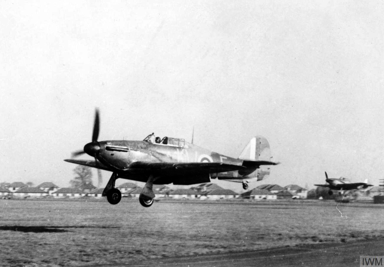 Hurricane I RAF 615Sqn KWE at Northolt Nov 1940 IWM HU54409