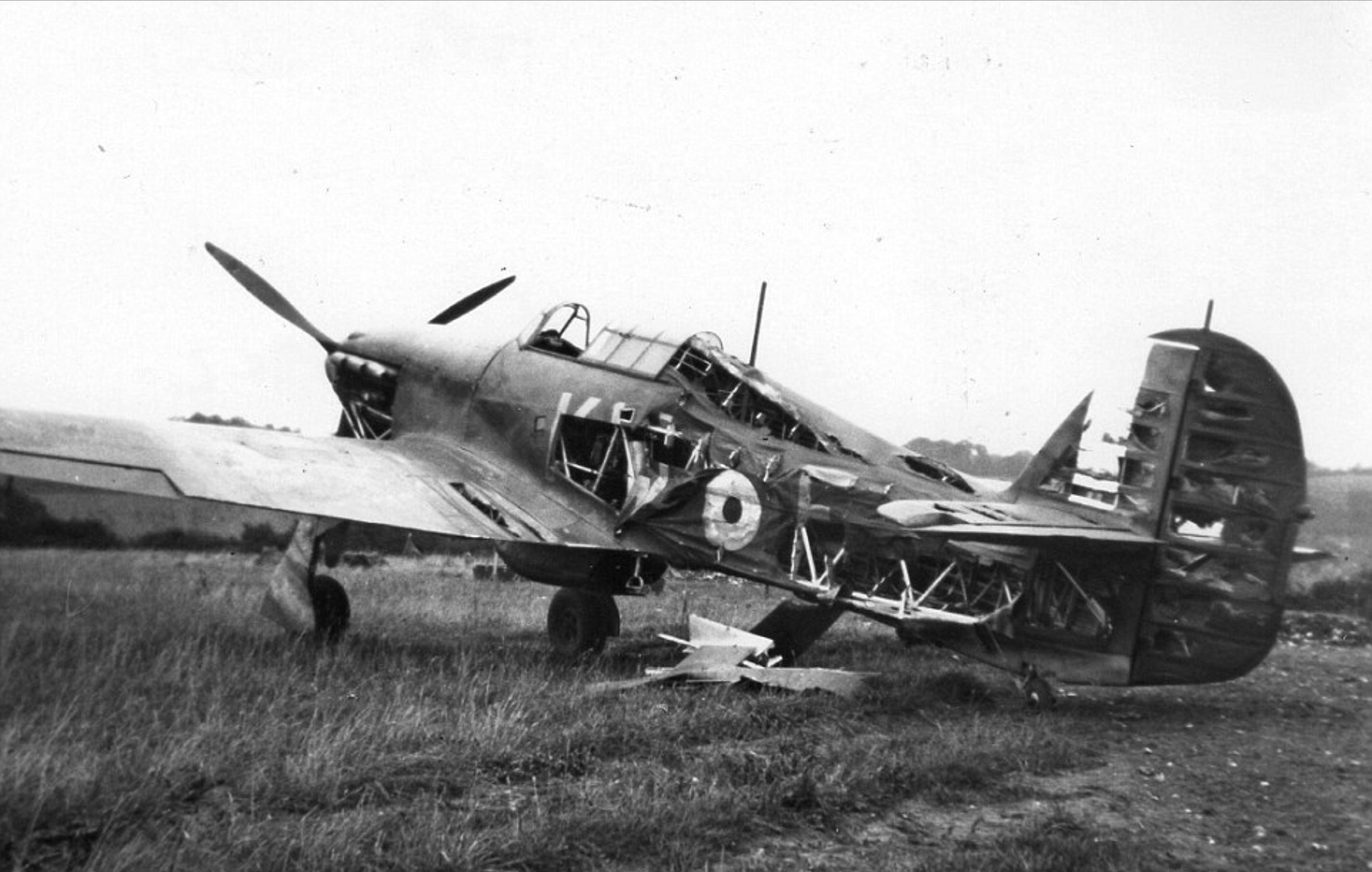 Hurricane II RAF 615Sqn KWF bomb damaged at RAF Kenley Aug 1940 02