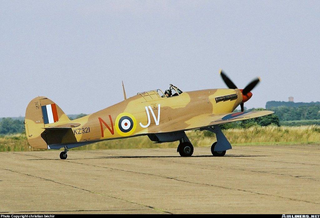 Airworthy Hawker Hurricane II warbird G HURY marked as RAF 6Sqn JV N KZ321 airshow collection 01