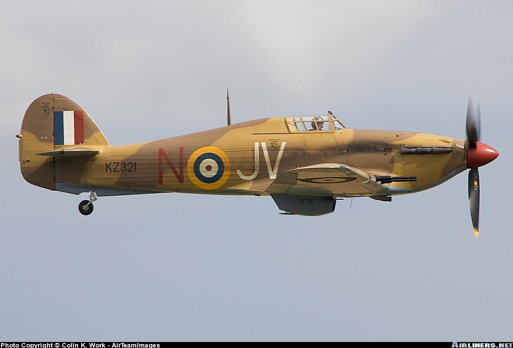 Airworthy Hawker Hurricane II warbird G HURY marked as RAF 6Sqn JV N KZ321 airshow collection 04