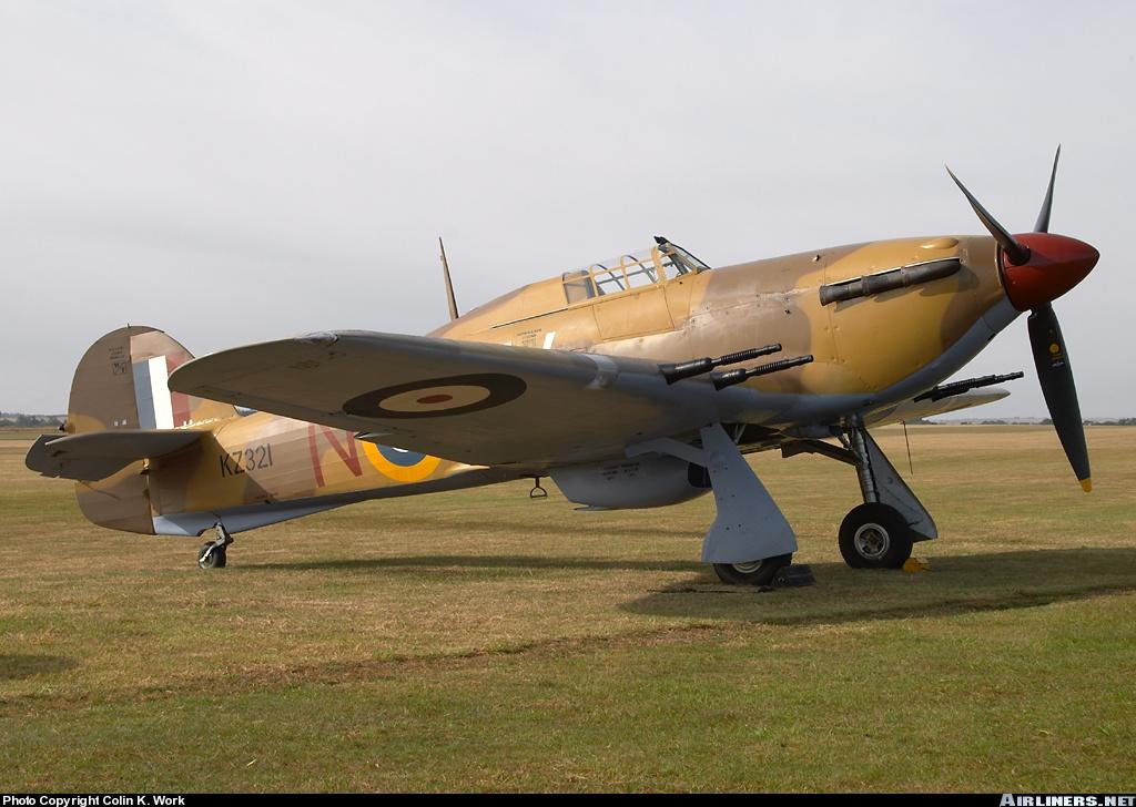 Airworthy Hawker Hurricane II warbird G HURY marked as RAF 6Sqn JV N KZ321 airshow collection 07