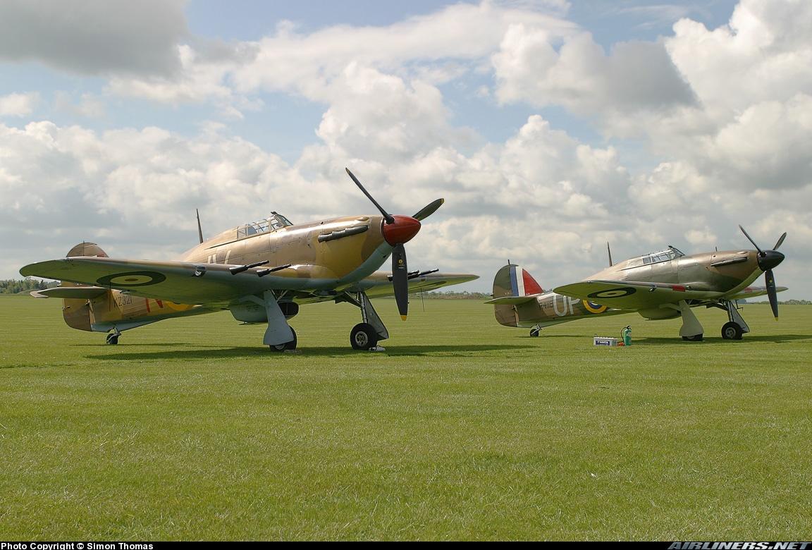 Airworthy Hawker Hurricane II warbird G HURY marked as RAF 6Sqn JV N KZ321 airshow collection 08