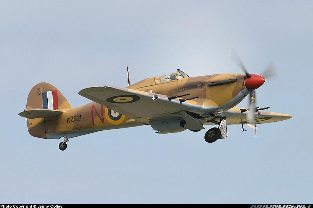 Airworthy Hawker Hurricane II warbird G HURY marked as RAF 6Sqn JV N KZ321 airshow collection 09