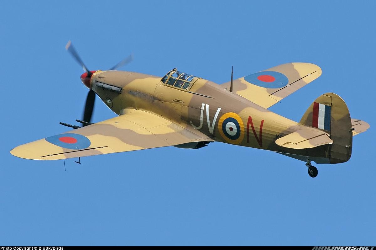 Airworthy Hawker Hurricane II warbird G HURY marked as RAF 6Sqn JV N KZ321 airshow collection 10