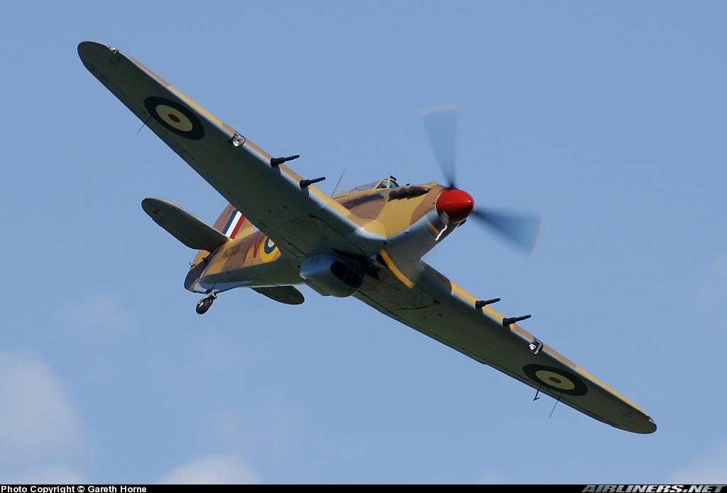 Airworthy Hawker Hurricane II warbird G HURY marked as RAF 6Sqn JV N KZ321 airshow collection 12