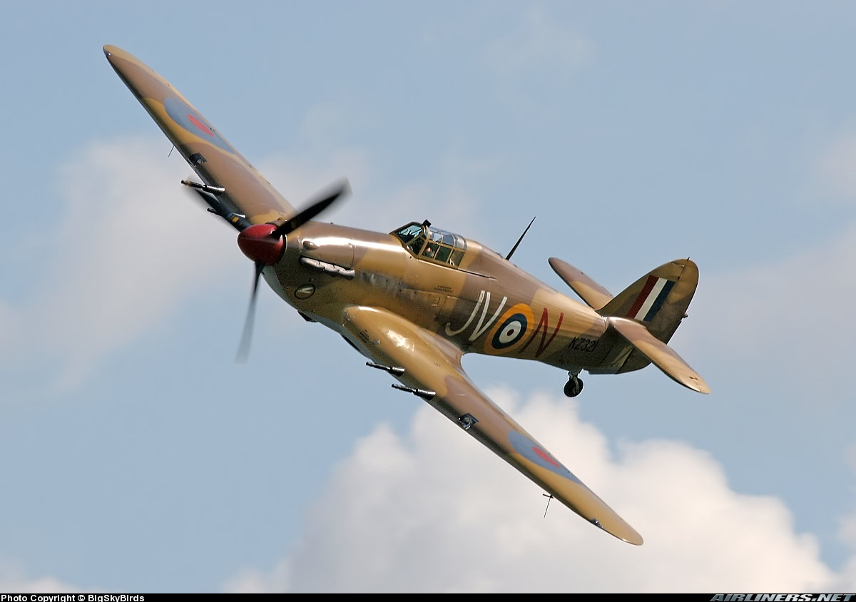 Airworthy Hawker Hurricane II warbird G HURY marked as RAF 6Sqn JV N KZ321 airshow collection 13
