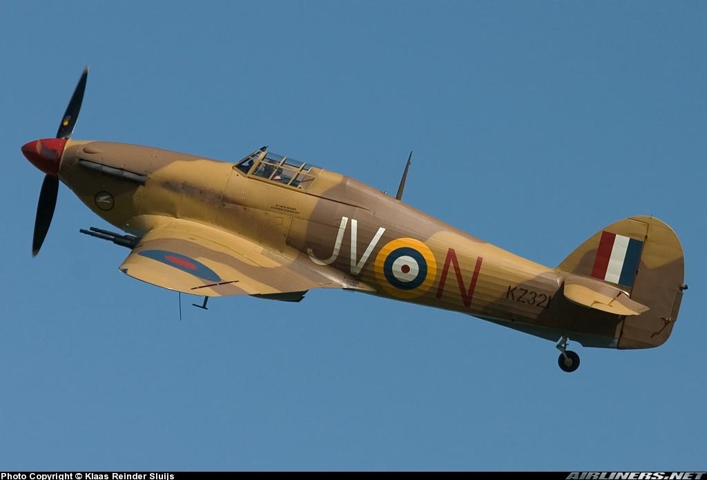 Airworthy Hawker Hurricane II warbird G HURY marked as RAF 6Sqn JV N KZ321 airshow collection 14