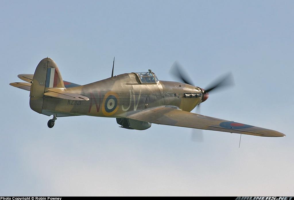 Airworthy Hawker Hurricane II warbird G HURY marked as RAF 6Sqn JV N KZ321 airshow collection 15