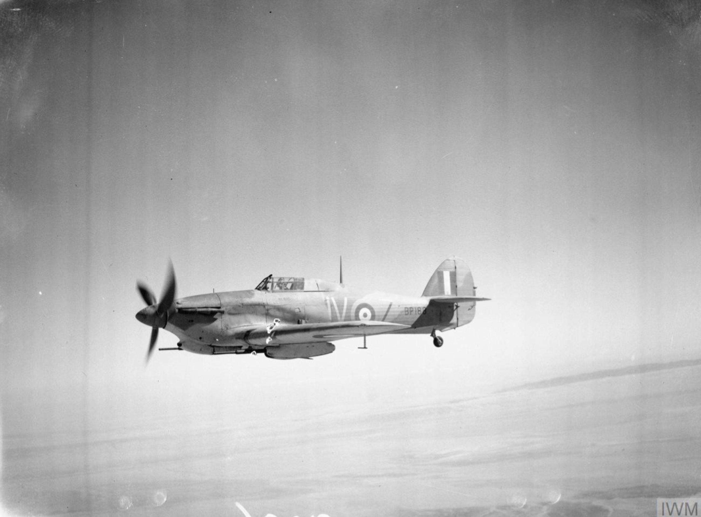 Hawker Hurricane IId Trop RAF 6Sqn JVZ BP188 Battle of El Alamein Egypt 1942 IWM CM4954