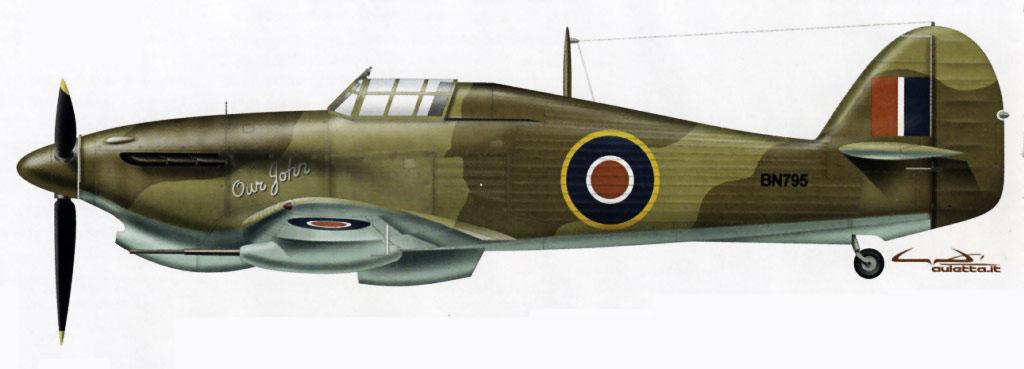 Hawker Hurricane IId Trop RAF 6Sqn Our John BN709 North Africa 0A