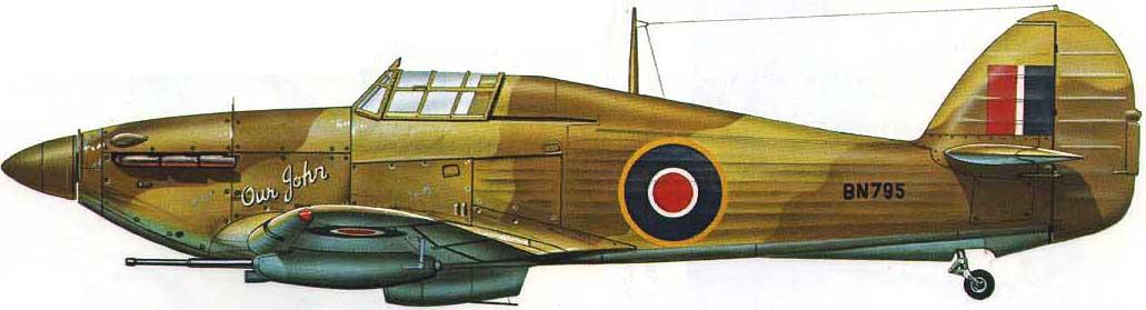 Hawker Hurricane IId Trop RAF 6Sqn Our John BN709 North Africa 0B