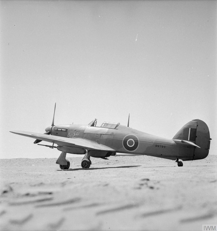 Hawker Hurricane IId Trop RAF 6Sqn Our John BN795 North Africa IWM CH10843