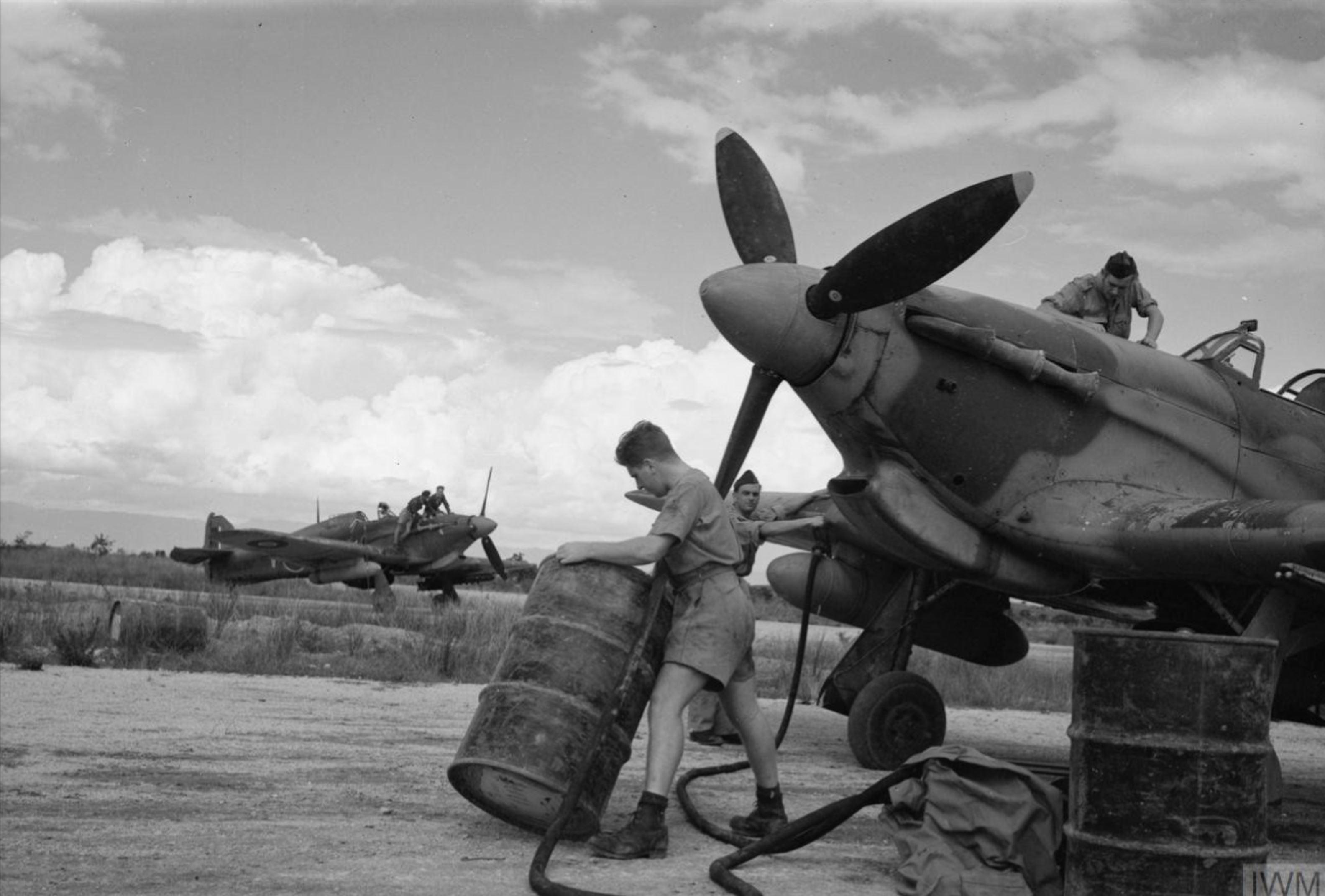 Hawker Hurricane IV Trop RAF 6Sqn at Araxos Greece IWM CNA4000