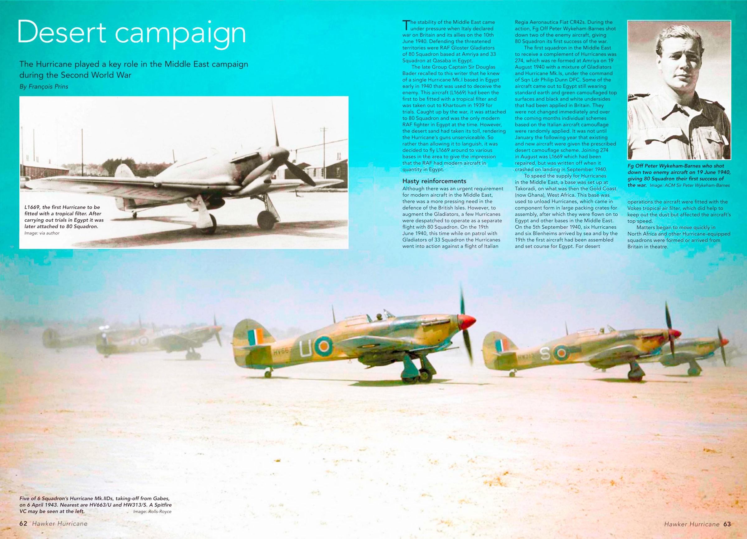Hurricane IId RAF 6Sqn S HW313 Peterson sd attacking tanks at Skhira Tunisia 6th April 1943 02