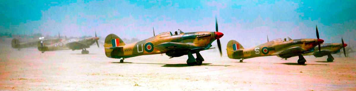 Hurricane IId RAF 6Sqn U HV663 taking off from Gabes Tunisia 6th April 1943 01
