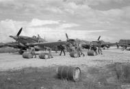 Asisbiz Hurricane IV Trop RAF 6Sqn refuelling at Araxos Greece Sep 1944 IWM CNA3199