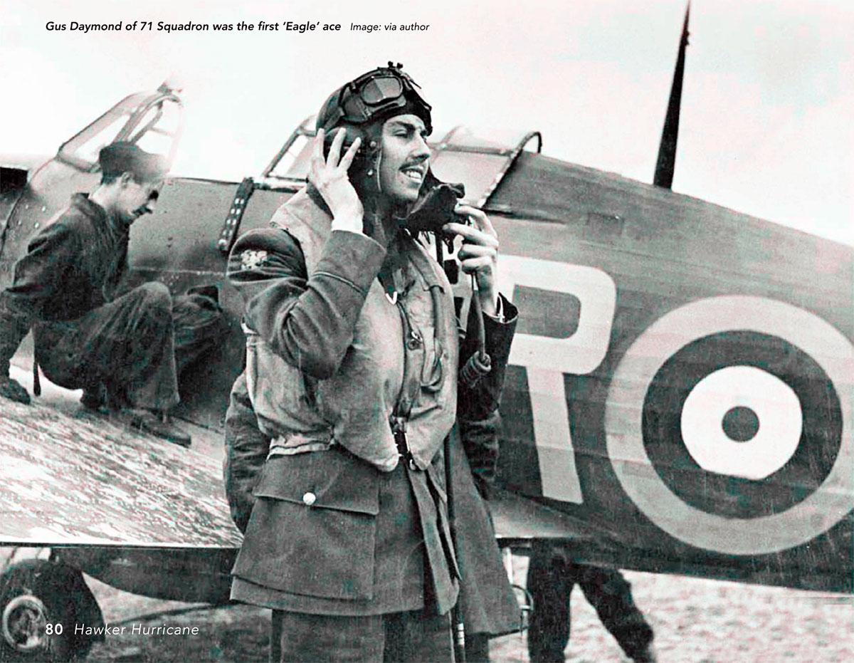 Aircrew RAF 71Sqn Gus Daymond first Eagle Ace 01