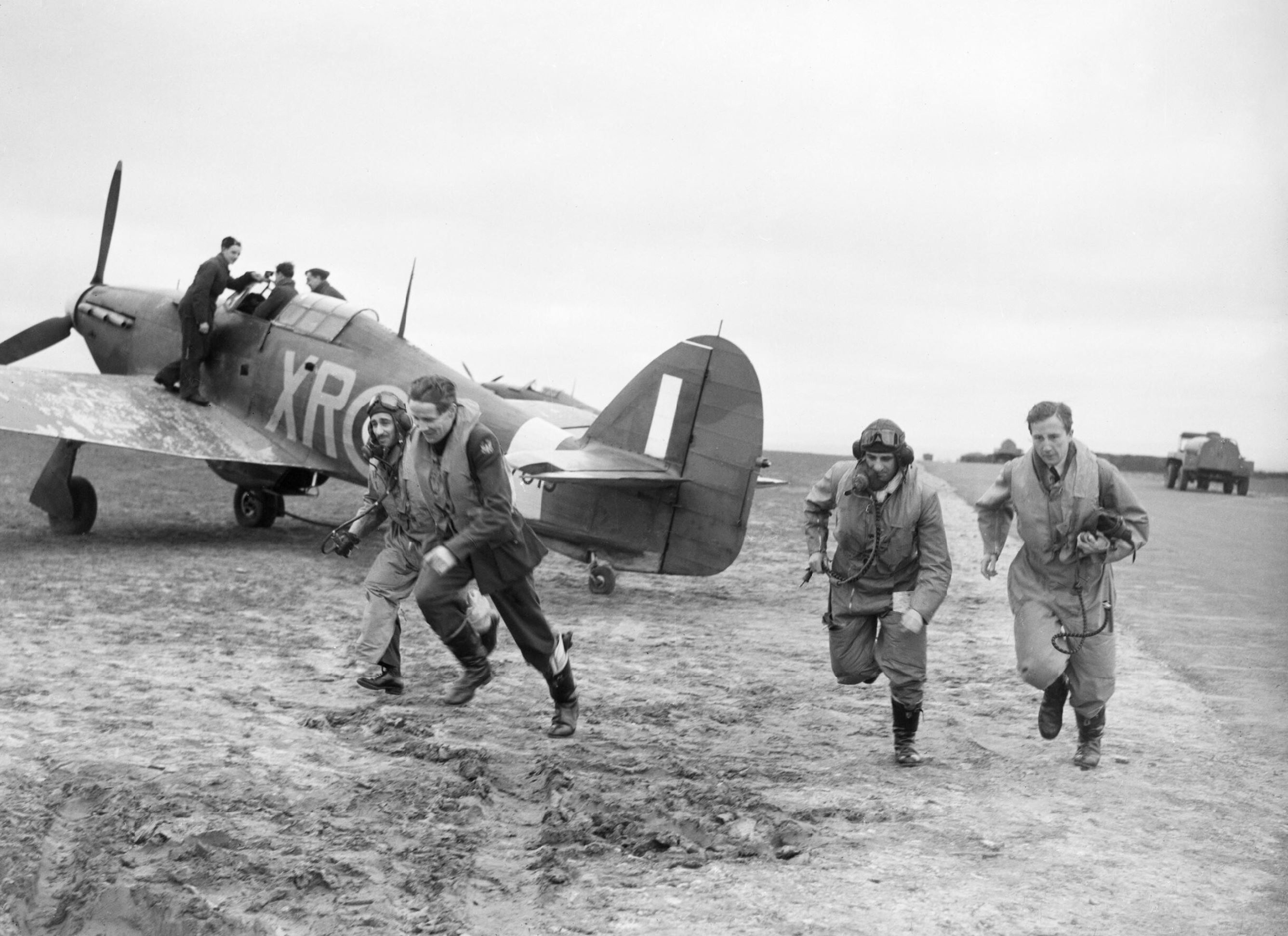 Hurricane I RAF 71Sqn at Kirton in Lindsey 17 Mar 1941 IWM CH2401