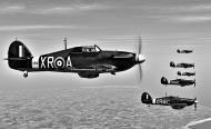 Asisbiz COD C6 Hurricane II RAF 71Sqn formation shot V0B