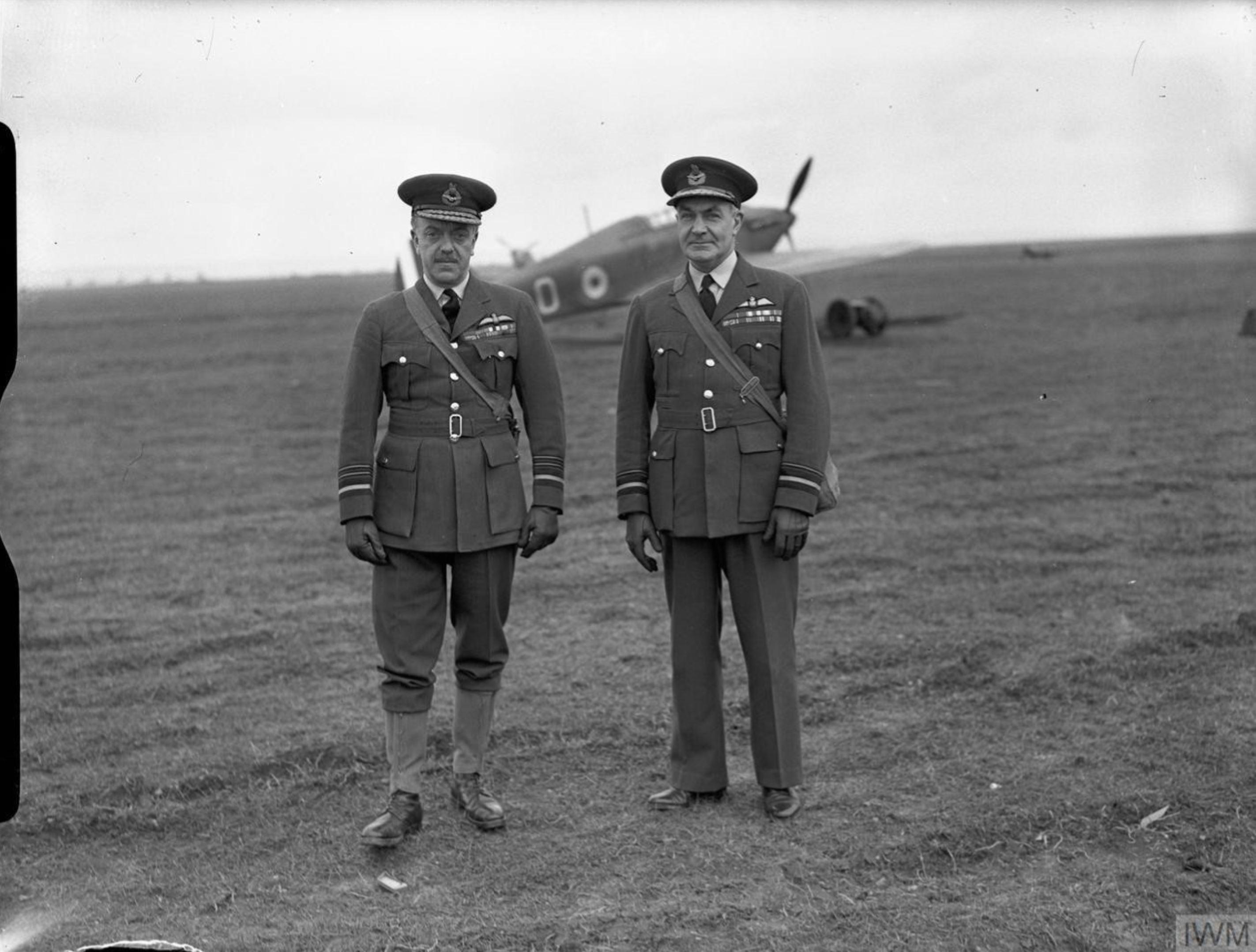 Aircrew RAF 73Sqn Air Marshal AS Barratt at Rouvres France 1940 IWM CH1133