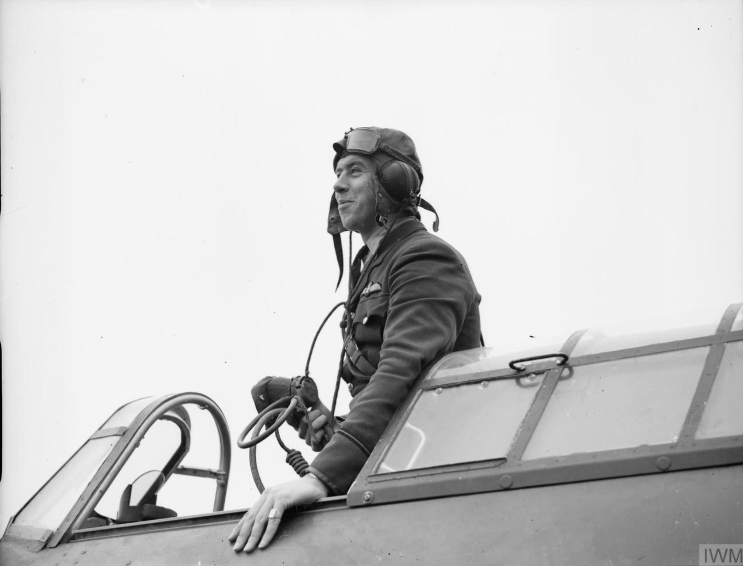Aircrew RAF 73Sqn EJ Kain at Rouvres 1940 IWM C188