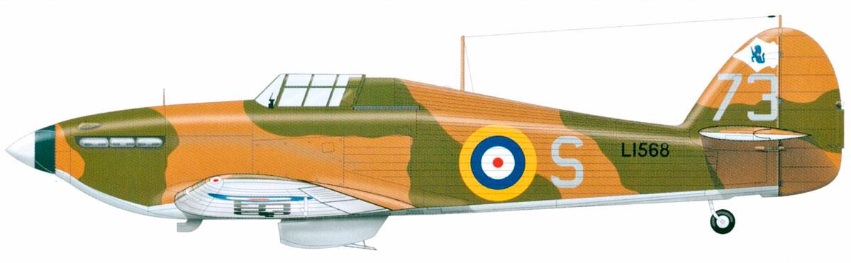 Hawker Hurricane I RAF 73Sqn S L1568 Digby 1938 0A