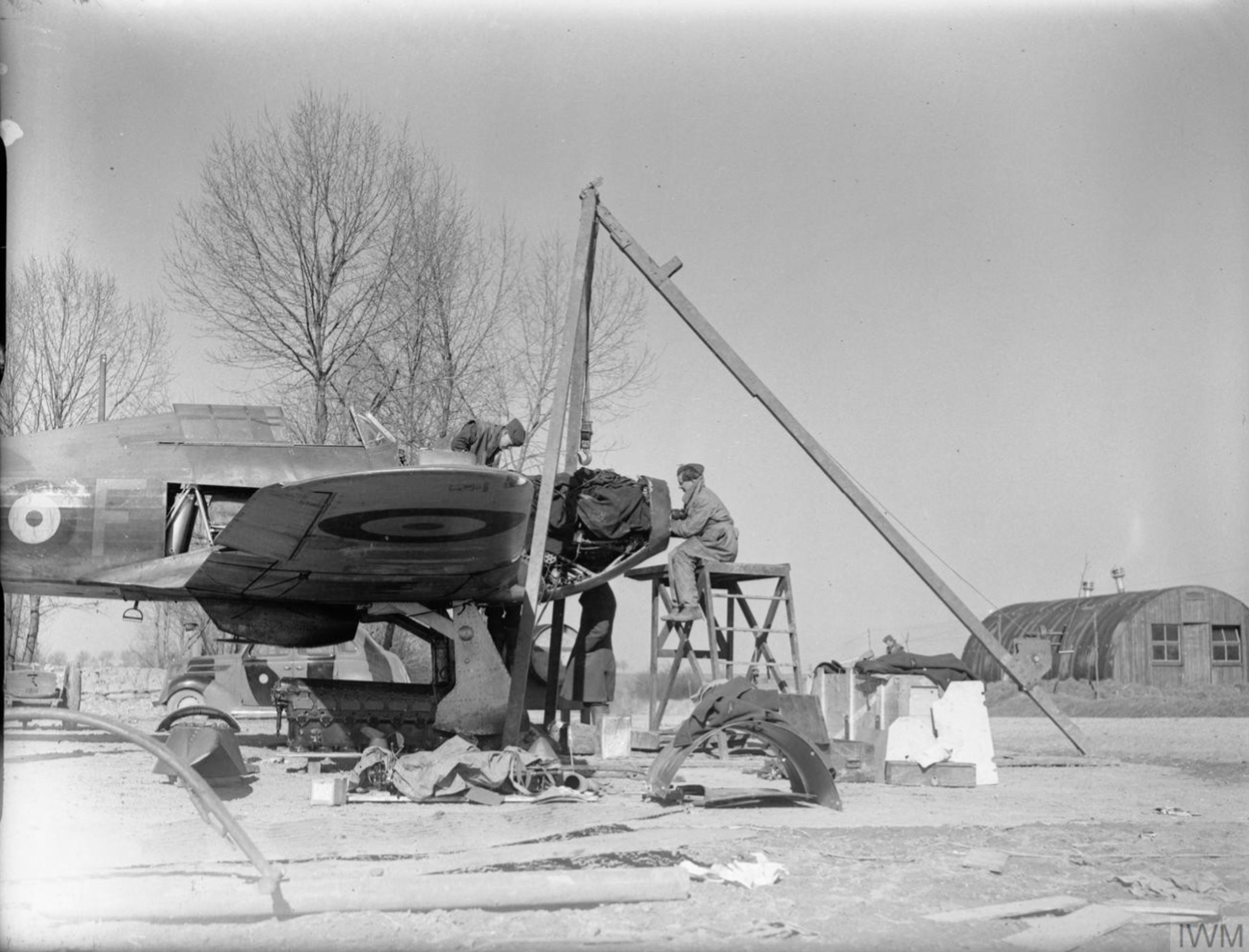 Hawker Hurricane I RAF 73Sqn TPF at Rouvres France 1940 IWM C880
