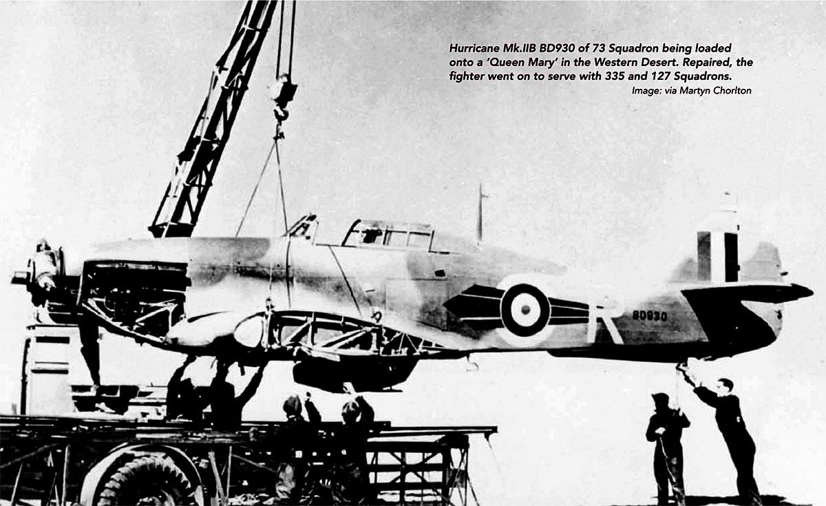 Hawker Hurricane IIb RAF 73Sqn R BD930 North Africa 1942 01