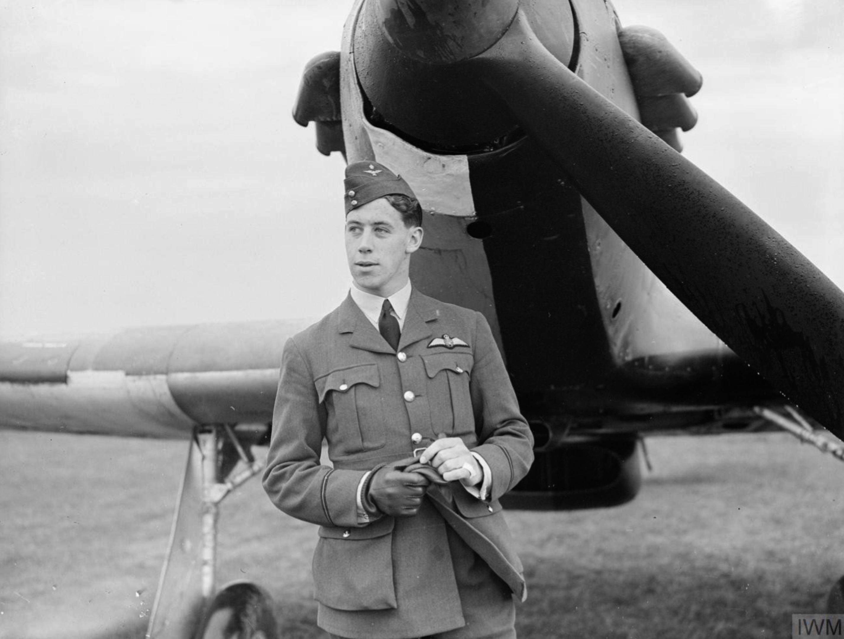 Hurricane I RAF 73Sqn P Paddy III flown by PO EJ Kain France 1940 IWM C1148