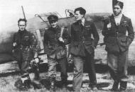 Asisbiz Aircrew RAF 73Sqn pilots with EJ Cobber Kain far left France 1940 01