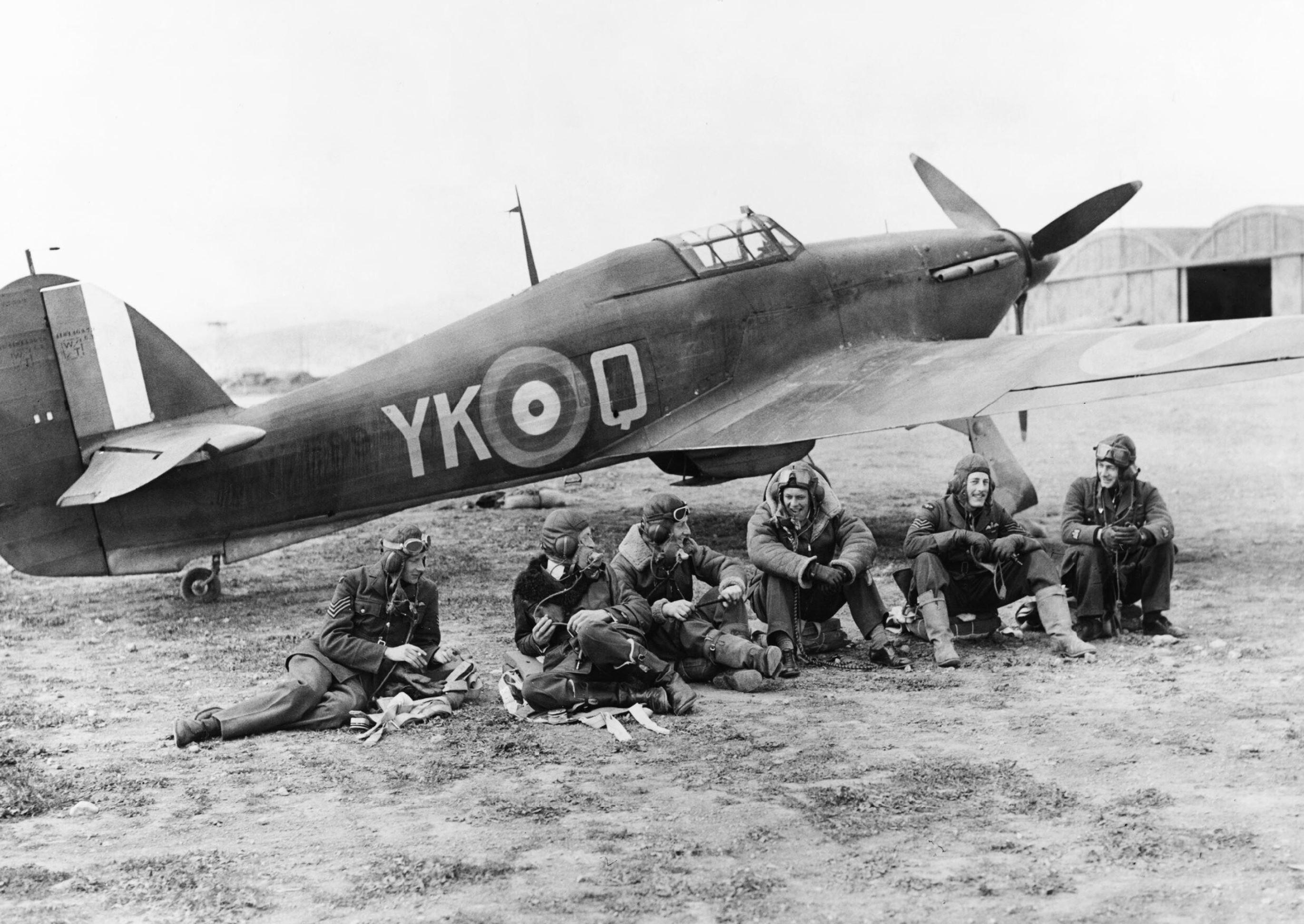 Hawker Hurricane I RAF 80Sqn YKQ V7599 at Eleusis Greece IWM MERAF1088