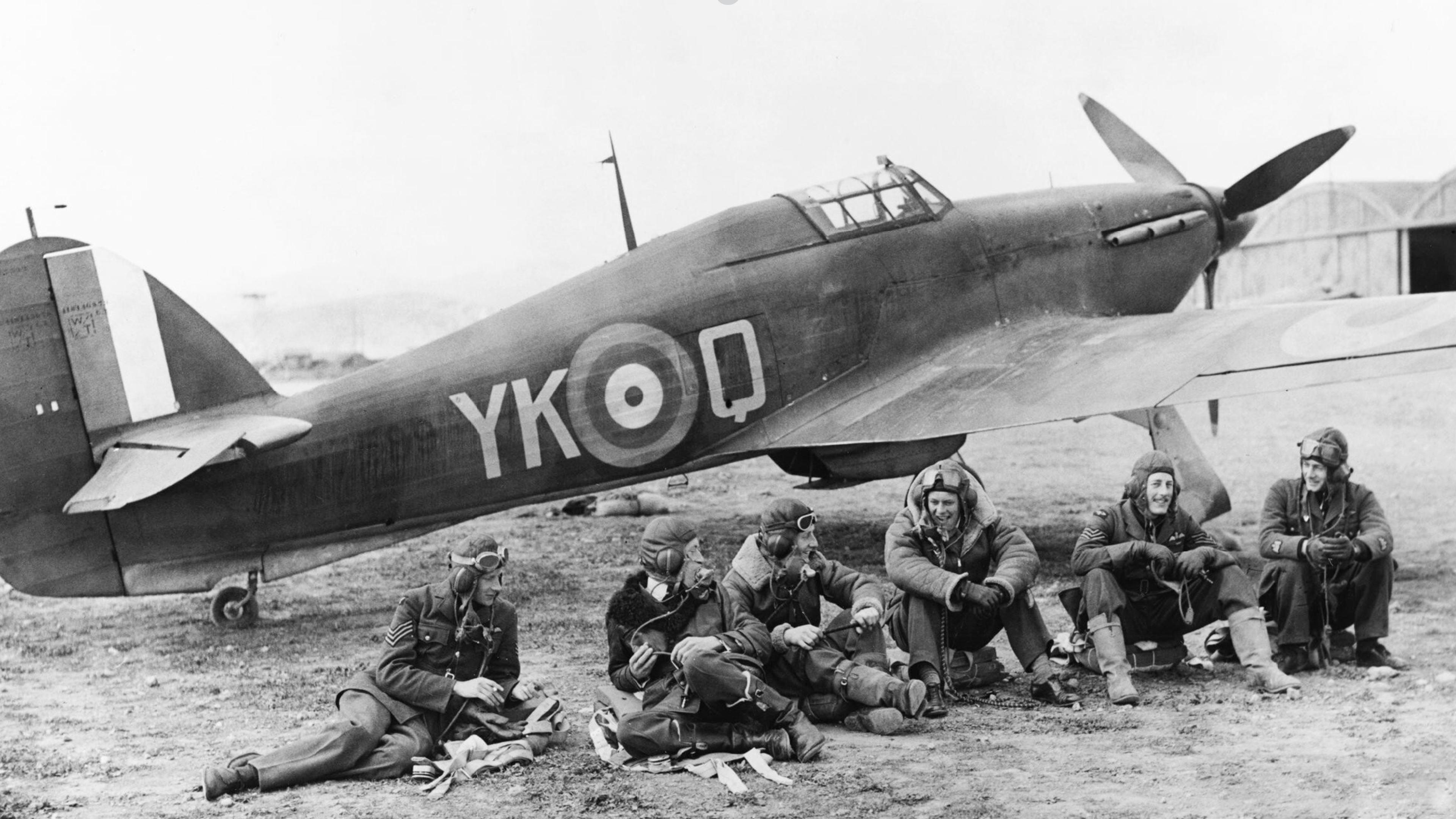 Hawker Hurricane I RAF 80Sqn YKQ V7599 at Eleusis Greece IWM MERAF1088a