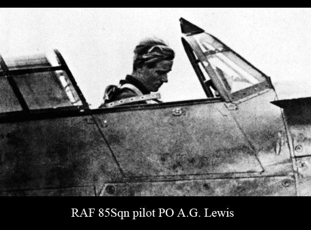 Aircrew RAF 85Sqn pilot PO AG Lewis 01