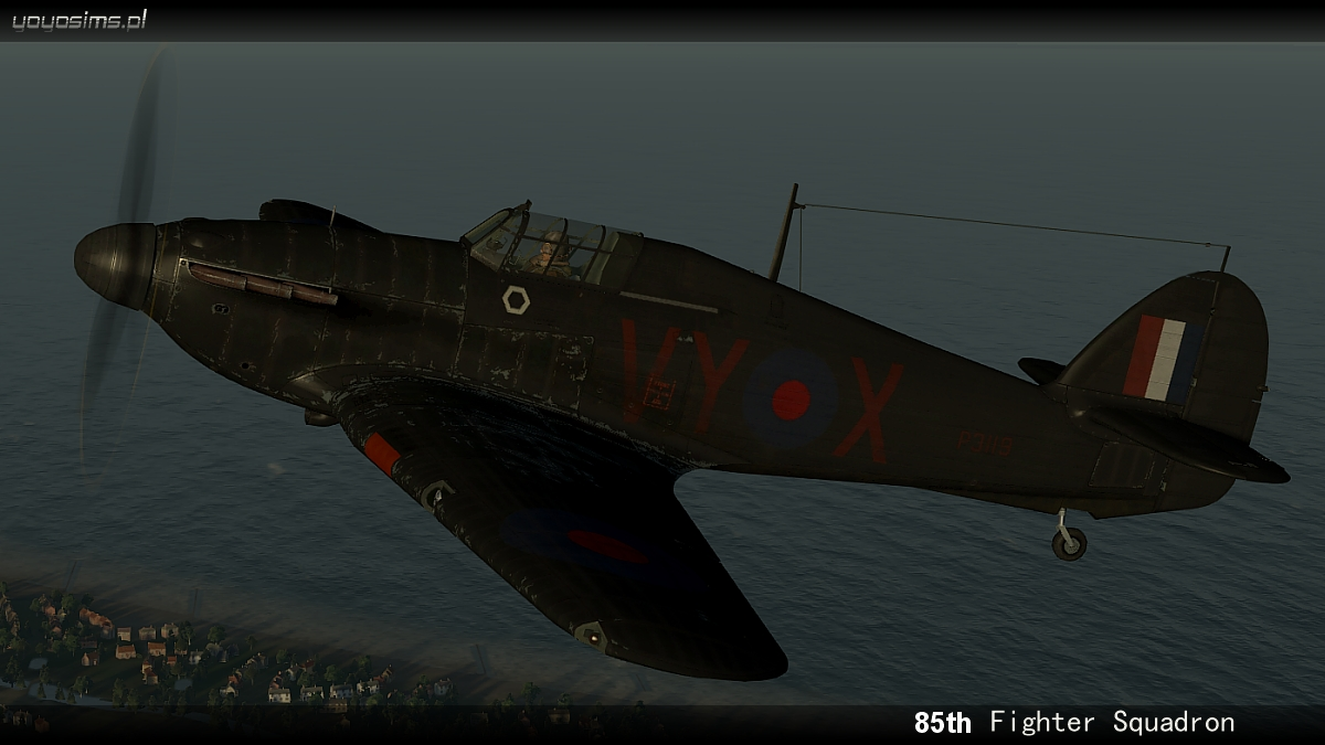 COD YO Hurricane I RAF 85Sqn VYX P3119 England 1940 V0B