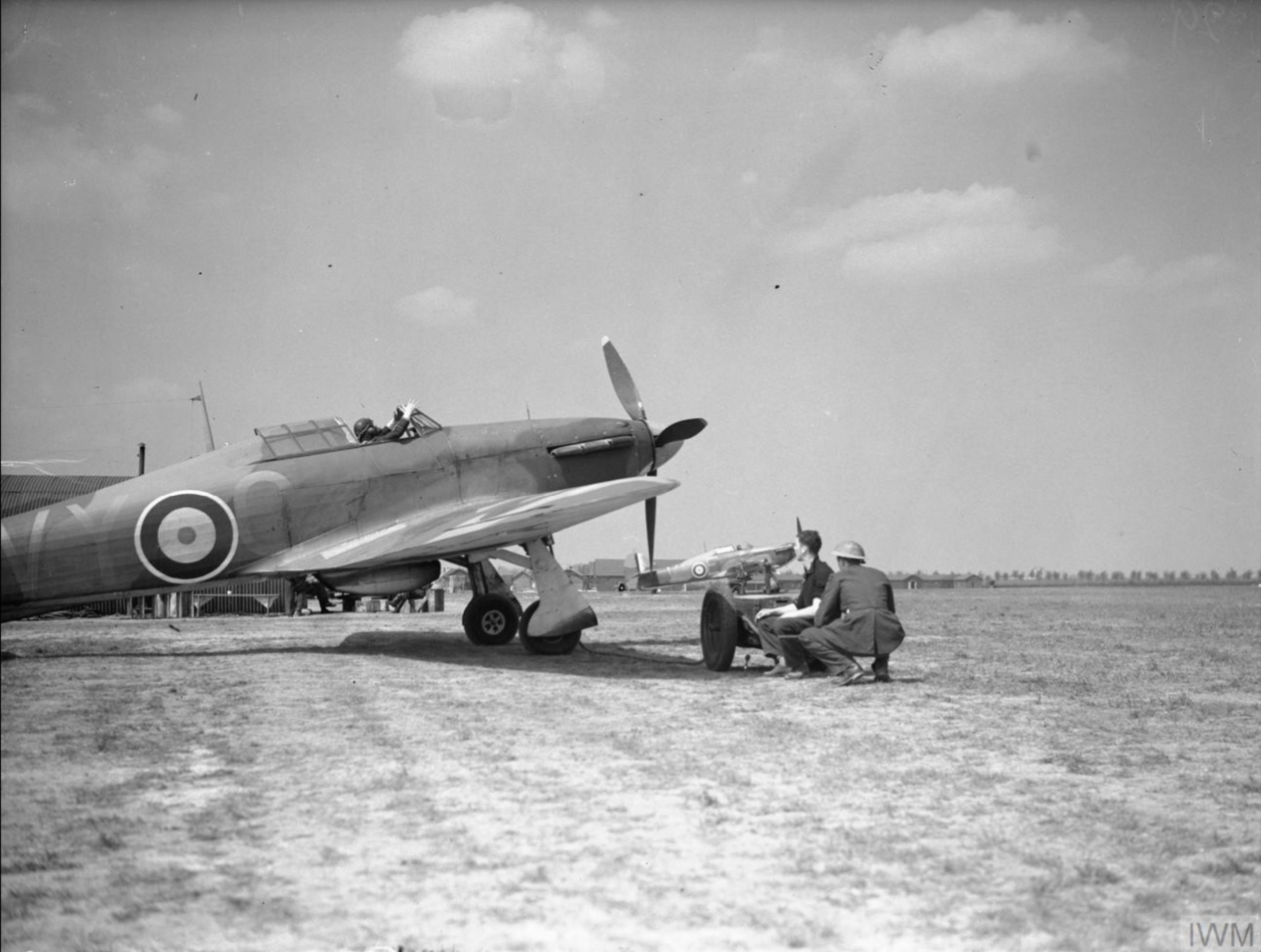 Hawker Hurricane I RAF 85Sqn VYC at Lille Seclin 1940 IWM C1520