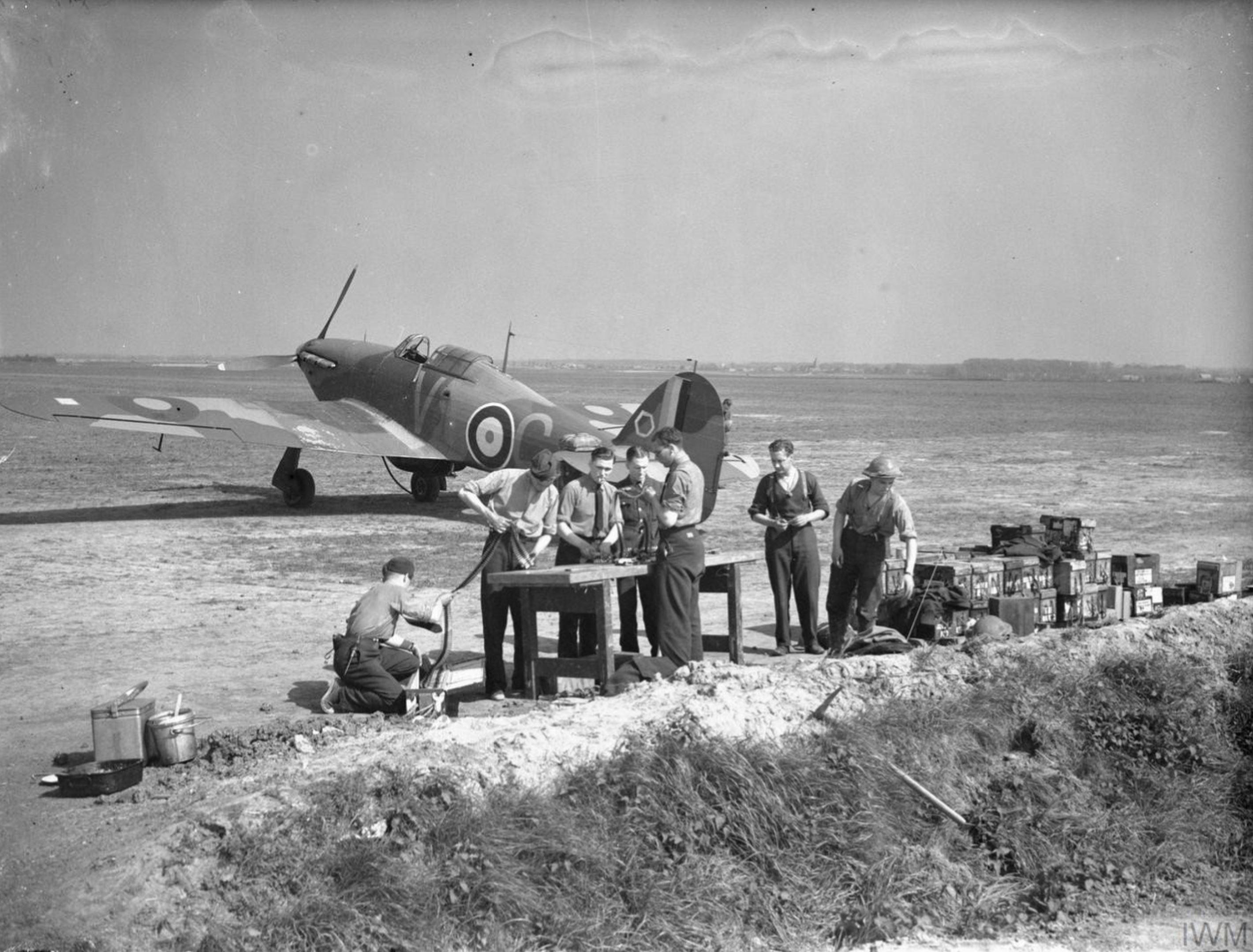 Hawker Hurricane I RAF 85Sqn VYC at Lille Seclin 1940 IWM HU1518
