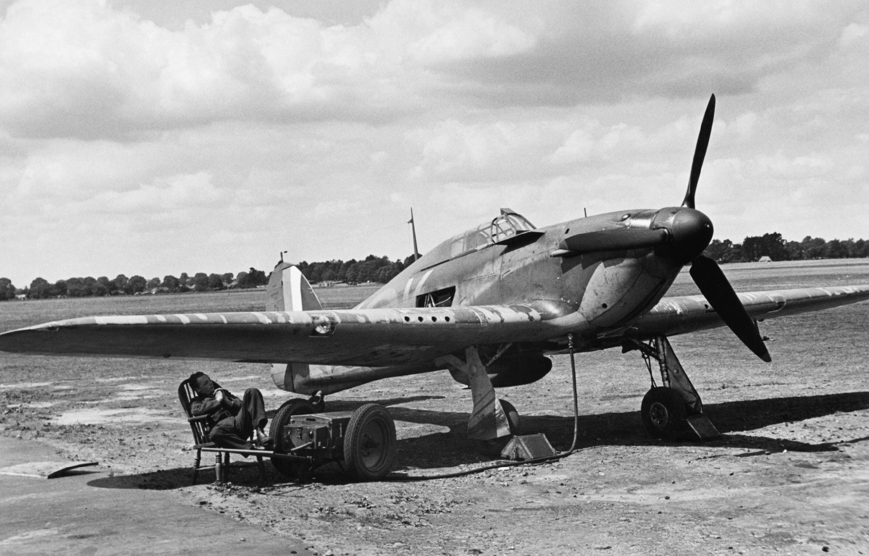 Hawker Hurricane I RAF 85Sqn VYK Geoffrey S Allard P3408 England July 1940 IWM HU104451