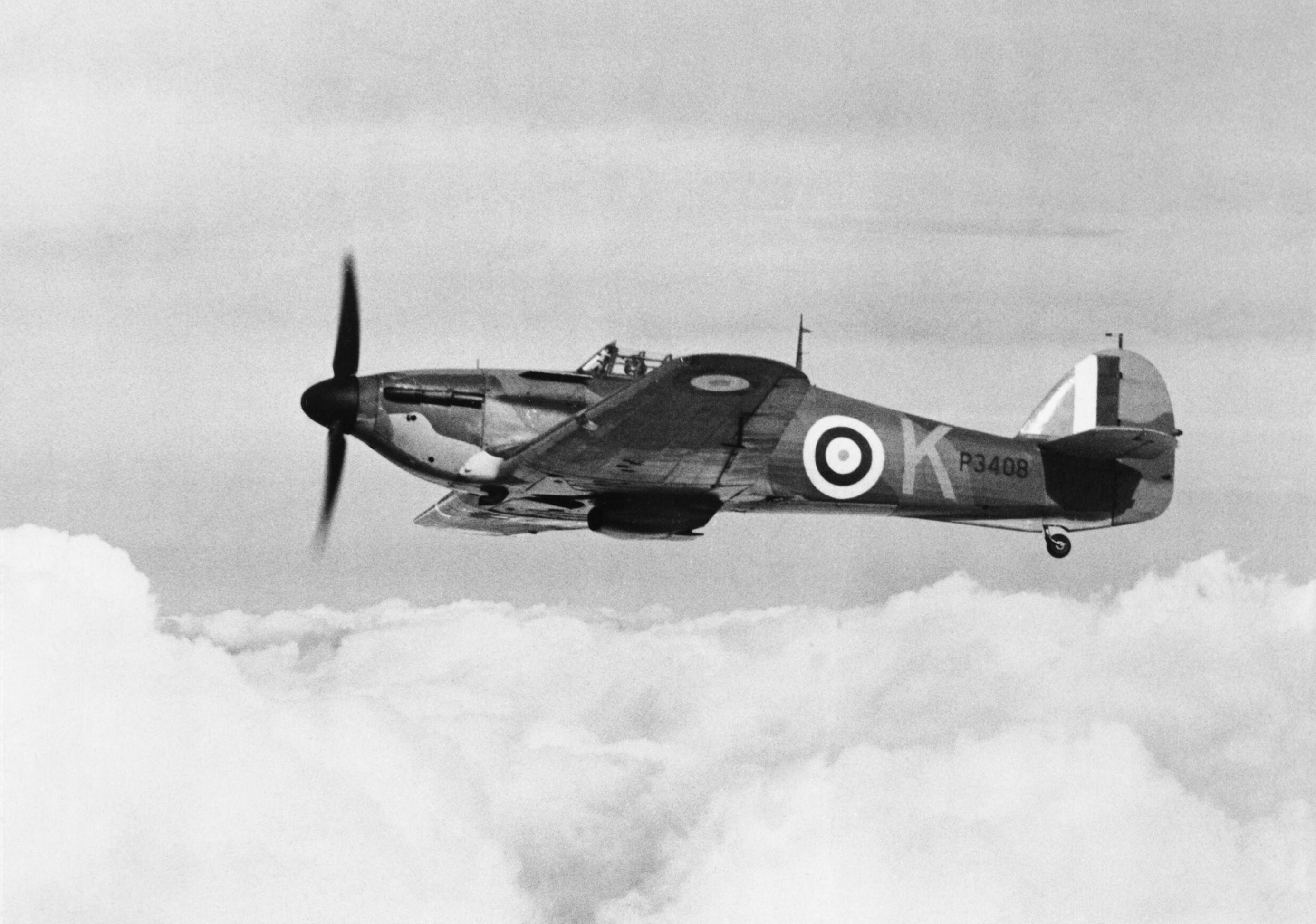 Hawker Hurricane I RAF 85Sqn VYK P3408 based at Church Fenton Yorkshire 1940 IWM CH1501
