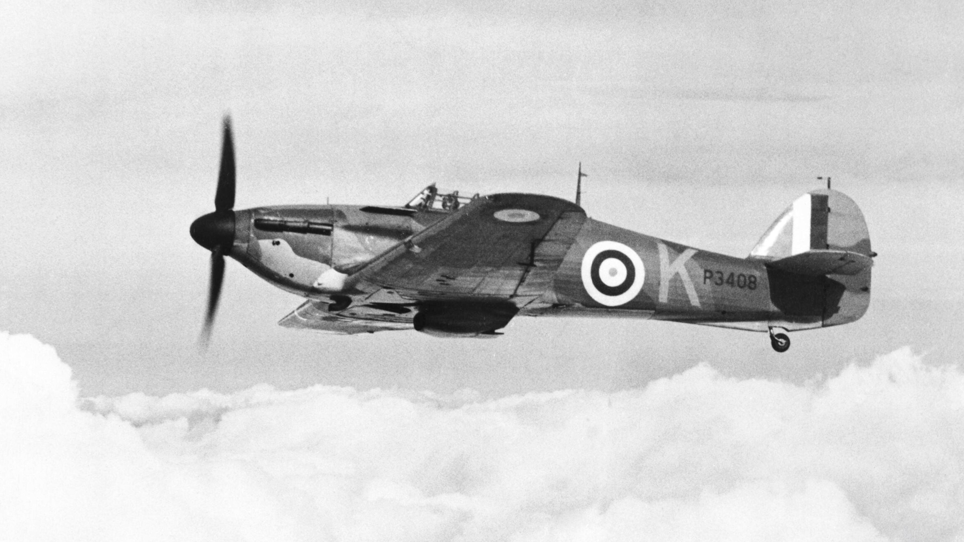Hawker Hurricane I RAF 85Sqn VYK P3408 based at Church Fenton Yorkshire 1940 IWM CH1501a