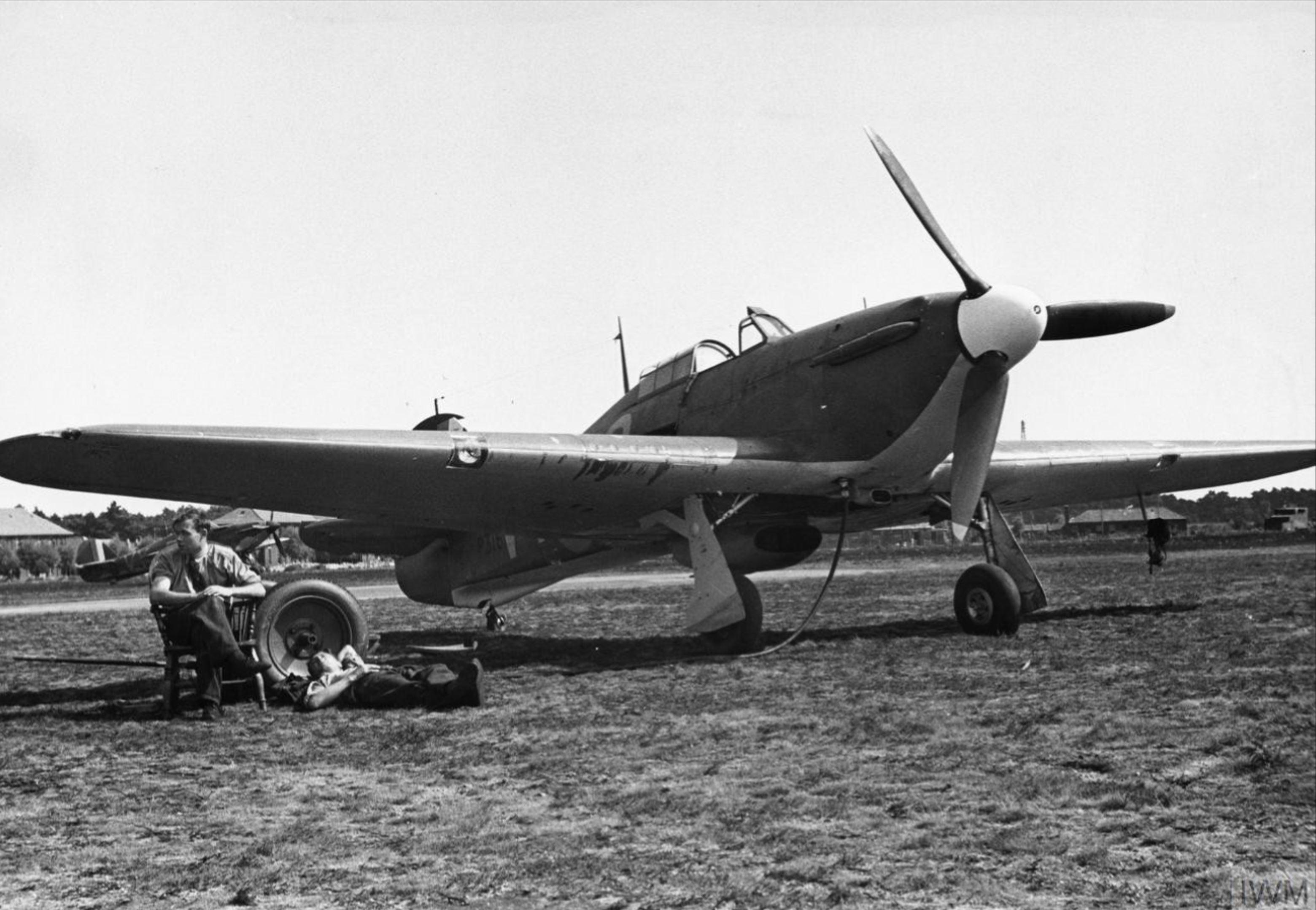 Hawker Hurricane I RAF 85Sqn VYQ Peter Townsend P3166 England Jul 1940 IWM HU104486